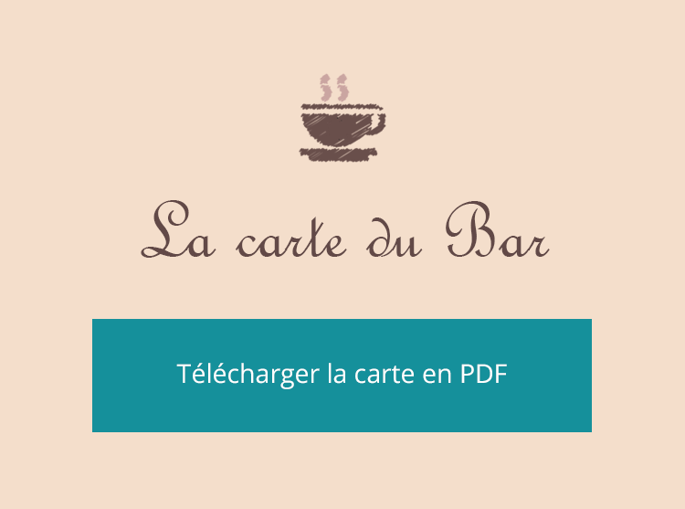 La carte du Bar - La Table de Montesquieu